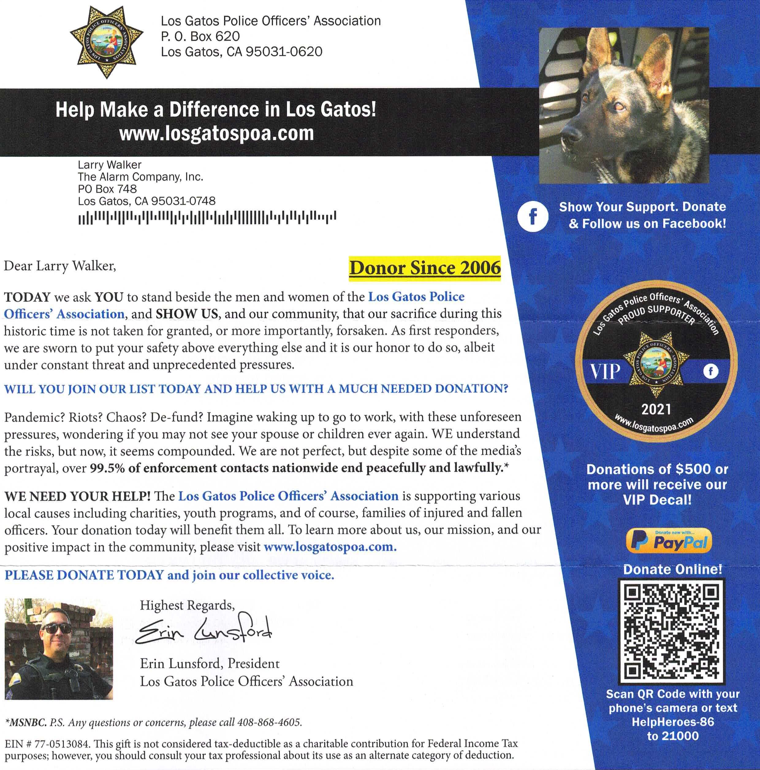2006-donation-los-gatos-police